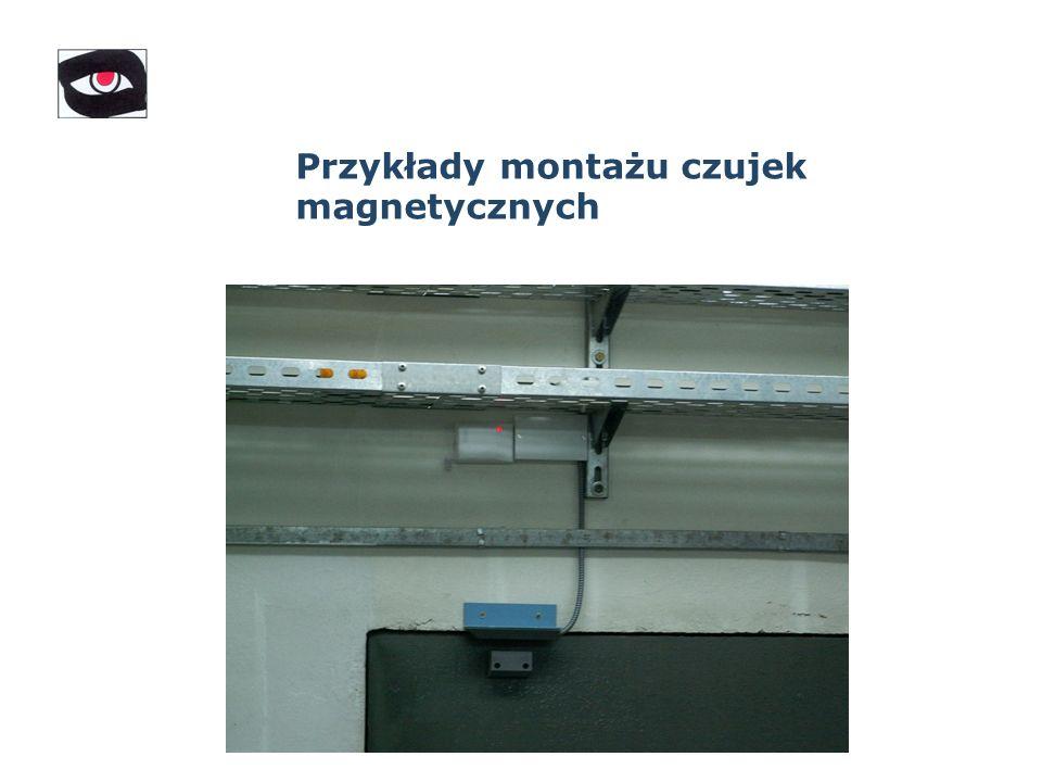 Przykłady montażu czujek magnetycznych