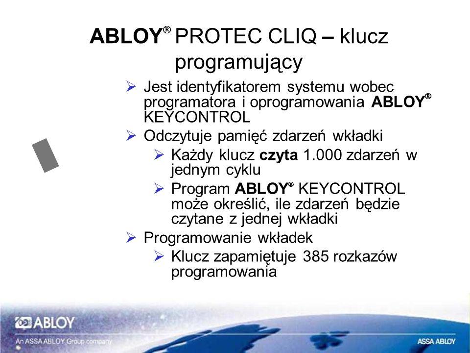 ABLOYÒ PROTEC CLIQ – klucz programujący