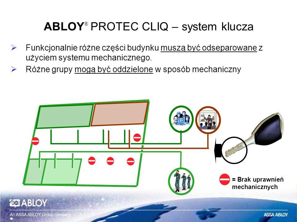 ABLOYÒ PROTEC CLIQ – system klucza