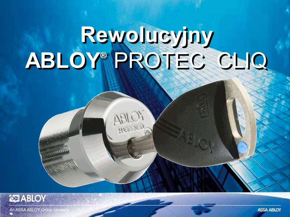 Rewolucyjny ABLOY® PROTEC CLIQ