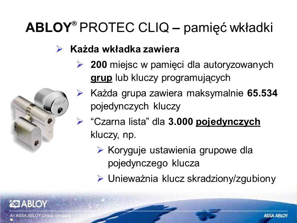 ABLOYÒ PROTEC CLIQ – pamięć wkładki