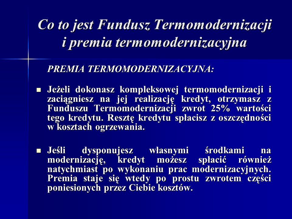 Co to jest Fundusz Termomodernizacji i premia termomodernizacyjna