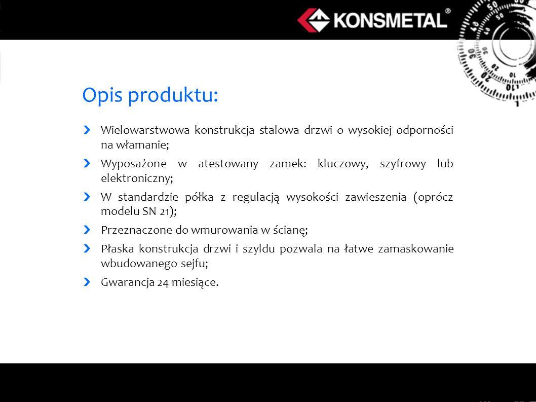 Opis produktu: Wielowarstwowa konstrukcja stalowa drzwi o wysokiej odporności na włamanie;