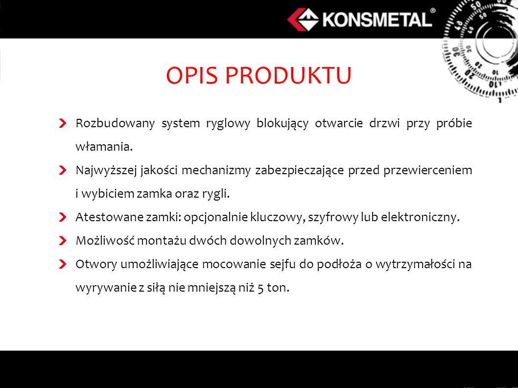 OPIS PRODUKTU Rozbudowany system ryglowy blokujący otwarcie drzwi przy próbie włamania.