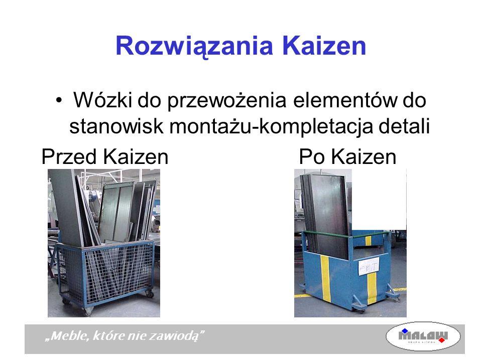 Wózki do przewożenia elementów do stanowisk montażu-kompletacja detali