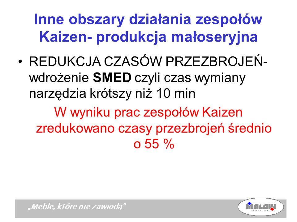 Inne obszary działania zespołów Kaizen- produkcja małoseryjna