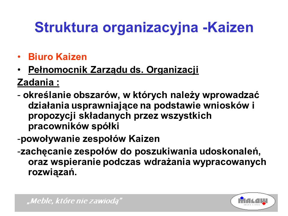 Struktura organizacyjna -Kaizen