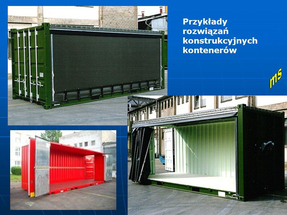 Przykłady rozwiązań konstrukcyjnych kontenerów