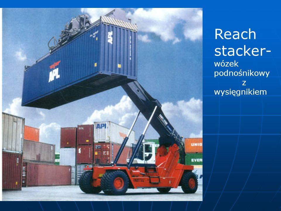 Reach stacker-wózek podnośnikowy z wysięgnikiem