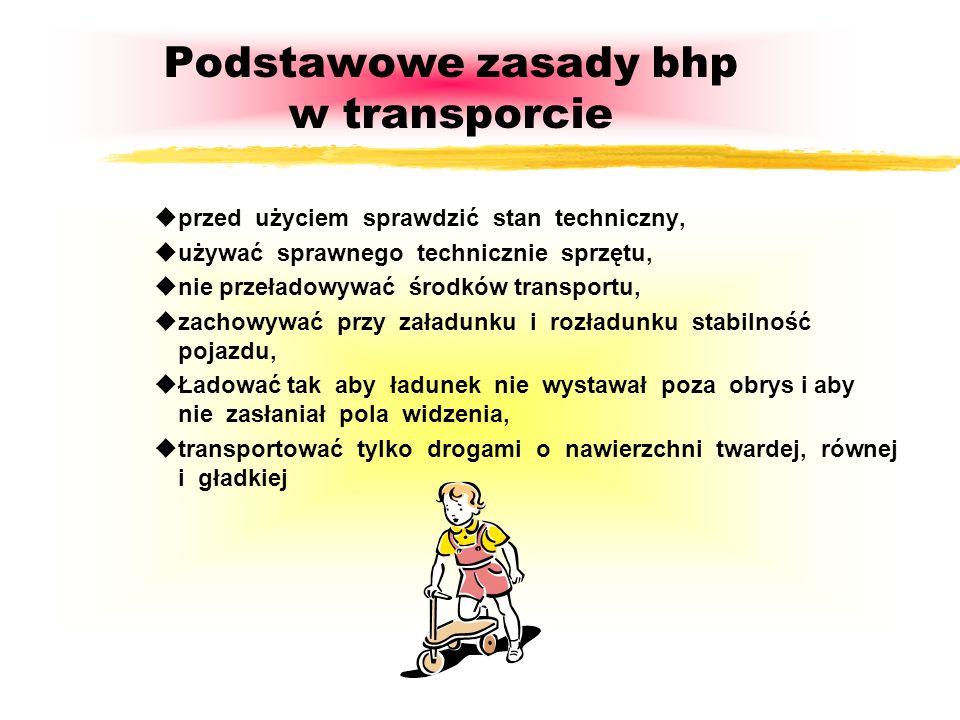 Podstawowe zasady bhp w transporcie