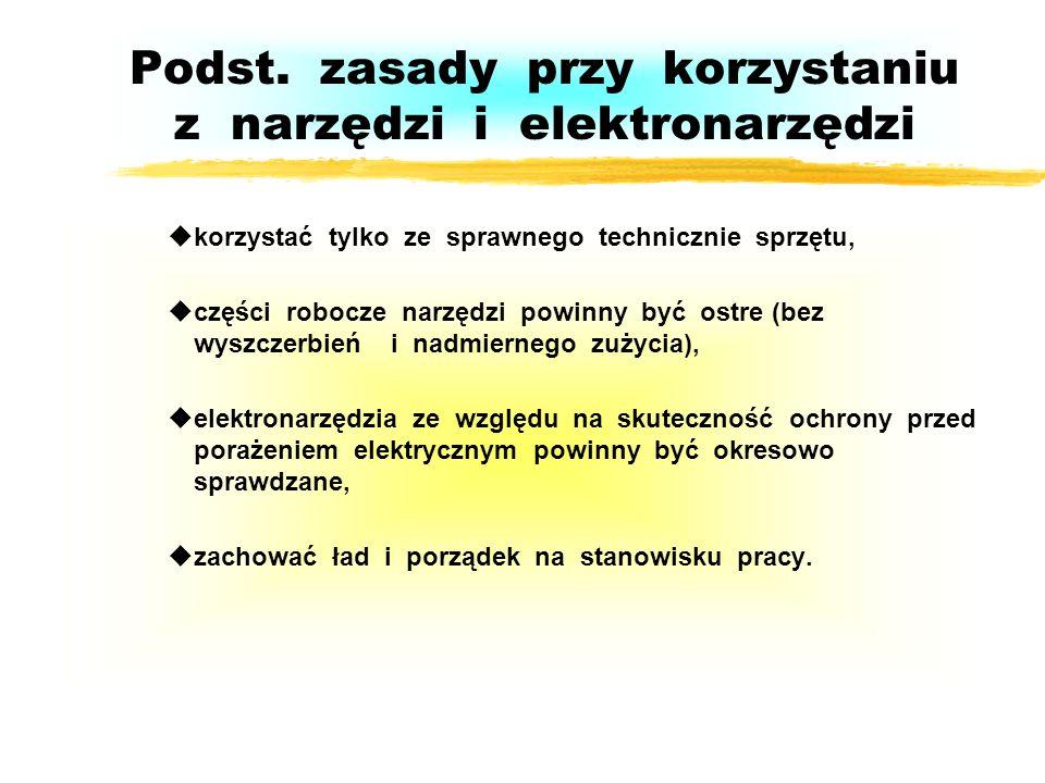 Podst. zasady przy korzystaniu z narzędzi i elektronarzędzi