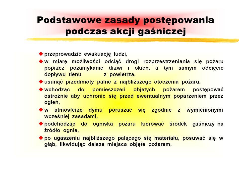 Podstawowe zasady postępowania podczas akcji gaśniczej