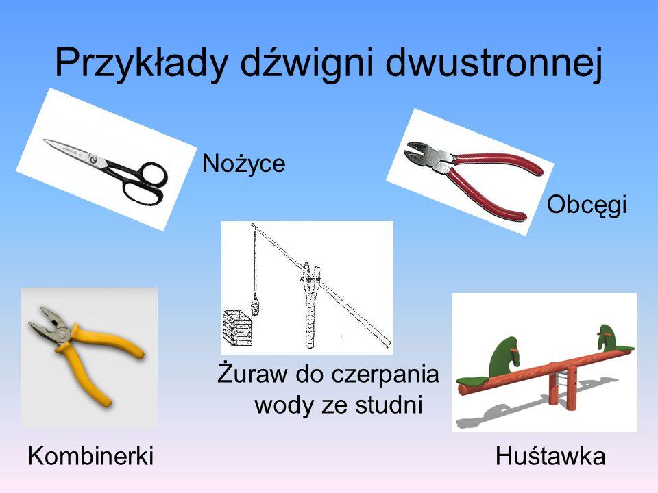 Przykłady dźwigni dwustronnej