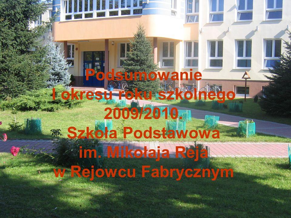 Podsumowanie I okresu roku szkolnego 2009/2010. Szkoła Podstawowa im
