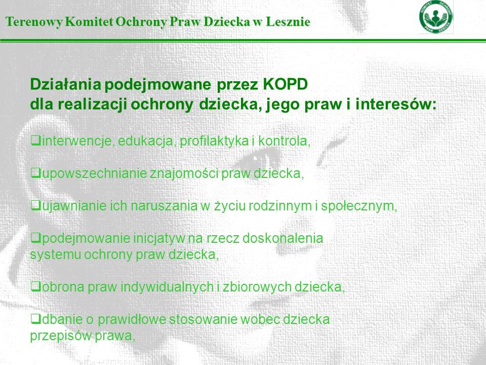 Działania podejmowane przez KOPD