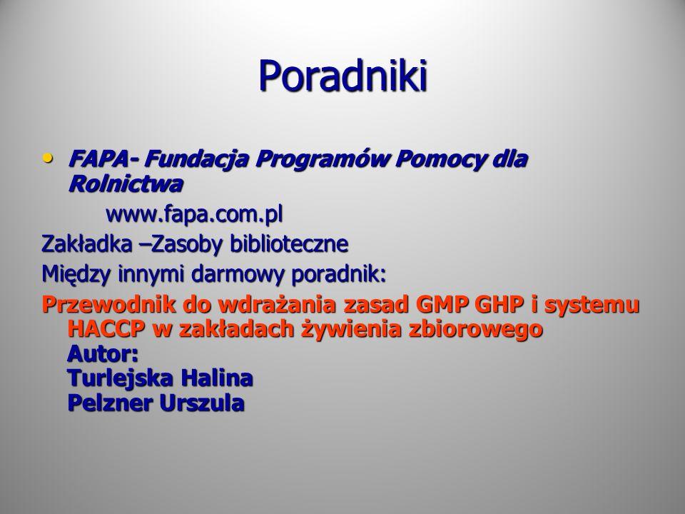 Poradniki FAPA- Fundacja Programów Pomocy dla Rolnictwa