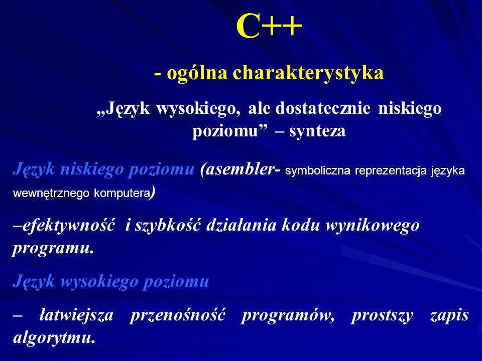 C++ - ogólna charakterystyka