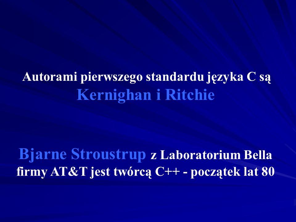 Autorami pierwszego standardu języka C są Kernighan i Ritchie