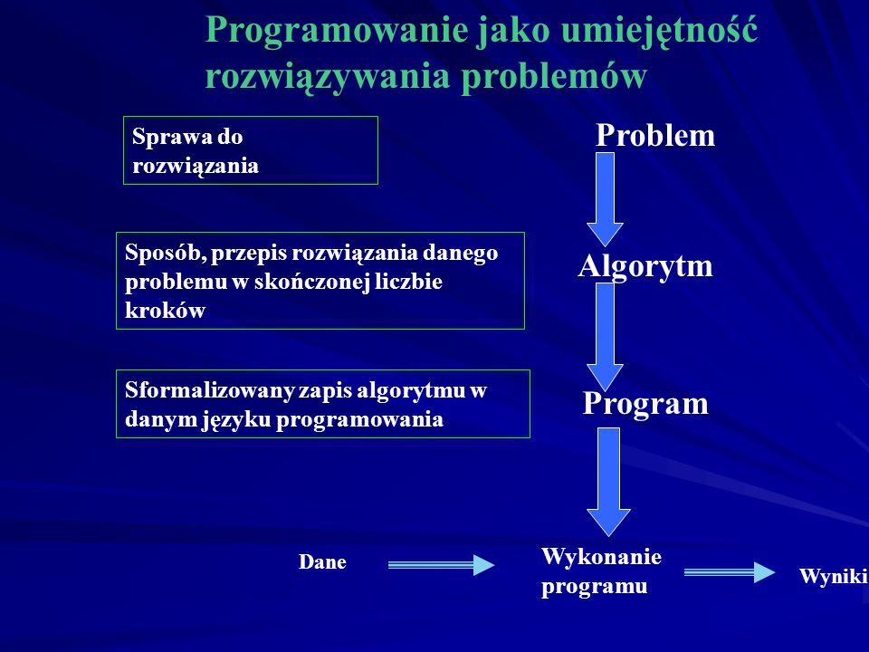 Programowanie jako umiejętność rozwiązywania problemów