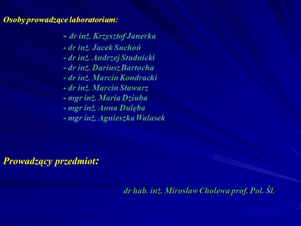 - dr inż. Krzysztof Janerka