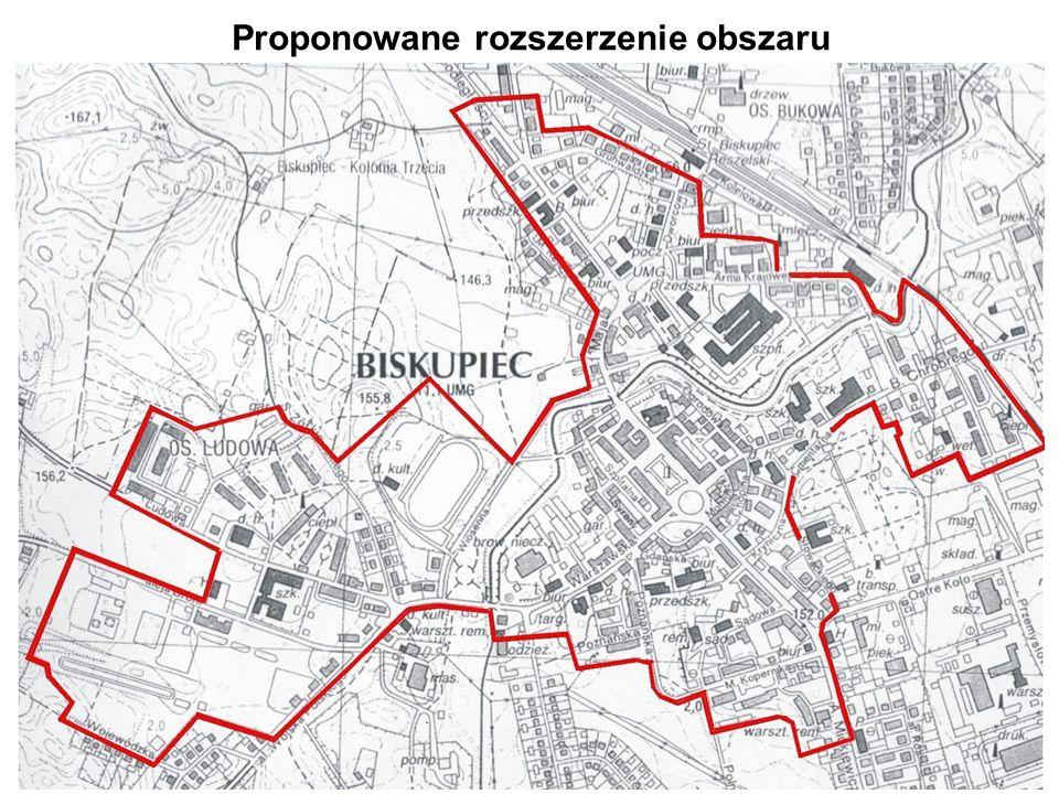 Proponowane rozszerzenie obszaru