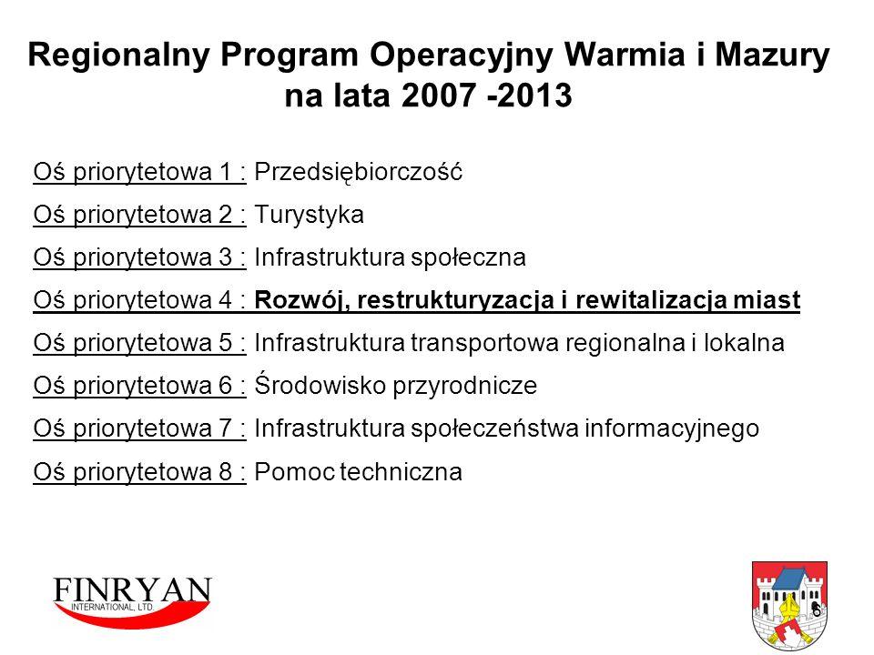 Regionalny Program Operacyjny Warmia i Mazury na lata 2007 -2013