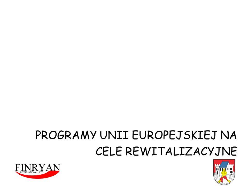 PROGRAMY UNII EUROPEJSKIEJ NA CELE REWITALIZACYJNE