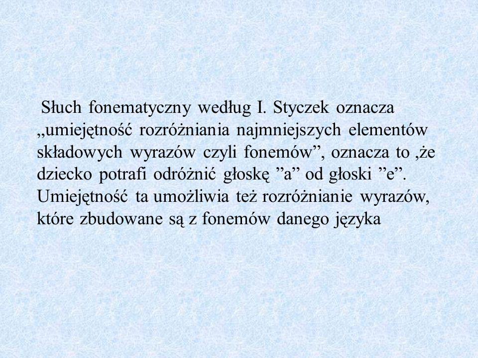 Słuch fonematyczny według I
