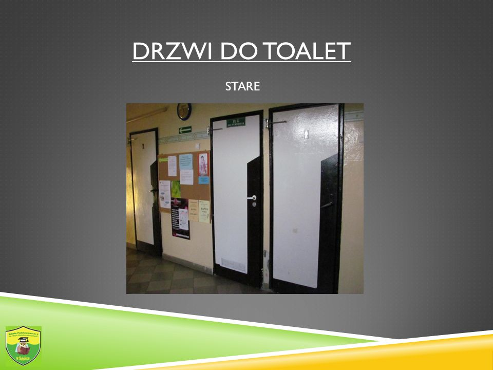 Drzwi do toalet STARE