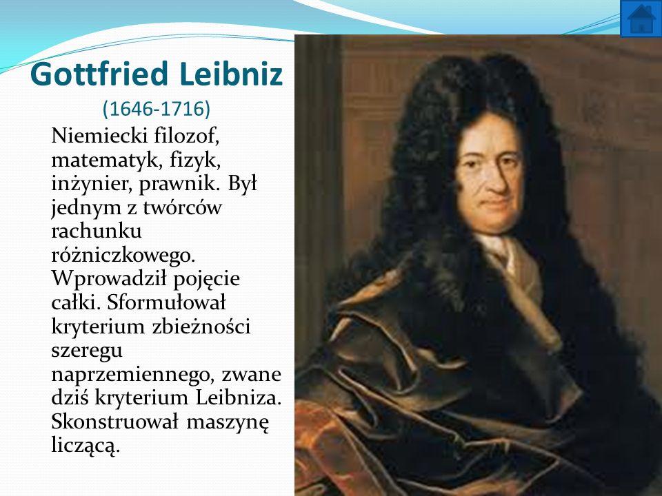 Gottfried Leibniz (1646-1716)