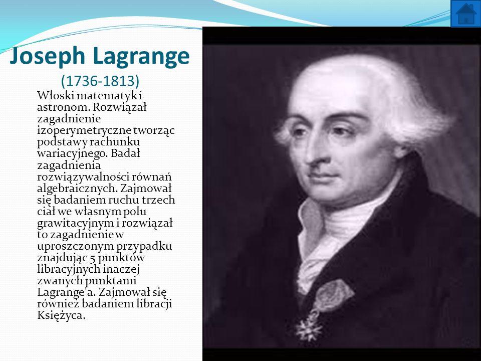 Joseph Lagrange (1736-1813)