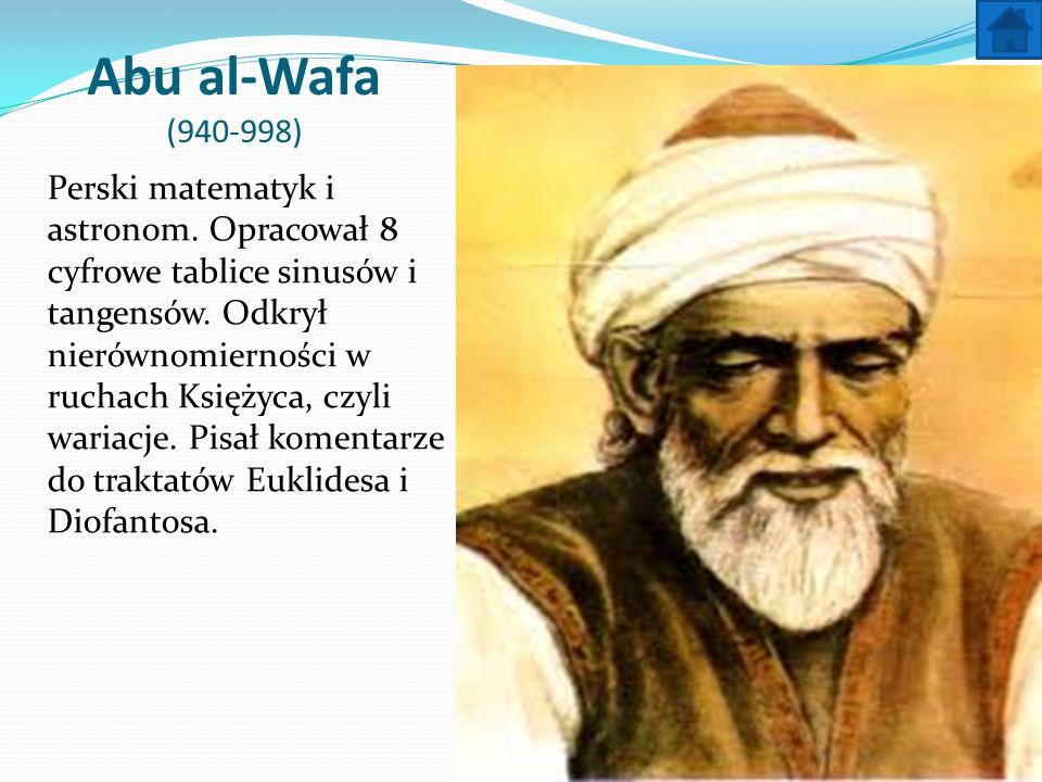 Abu al-Wafa (940-998)