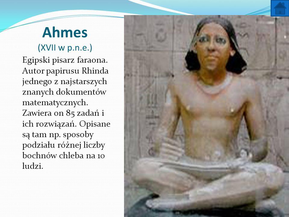 Ahmes (XVII w p.n.e.)