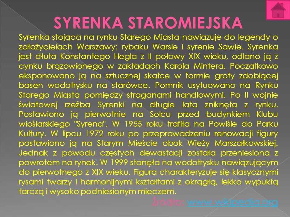SYRENKA STAROMIEJSKA Źródło: www.wikipedia.org