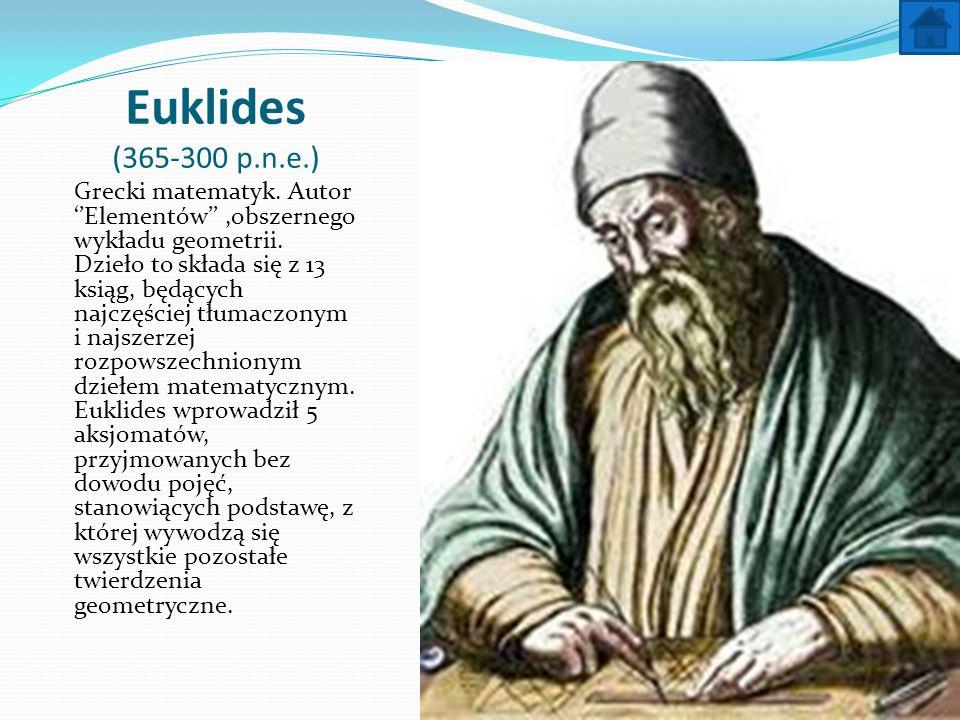 Euklides (365-300 p.n.e.)