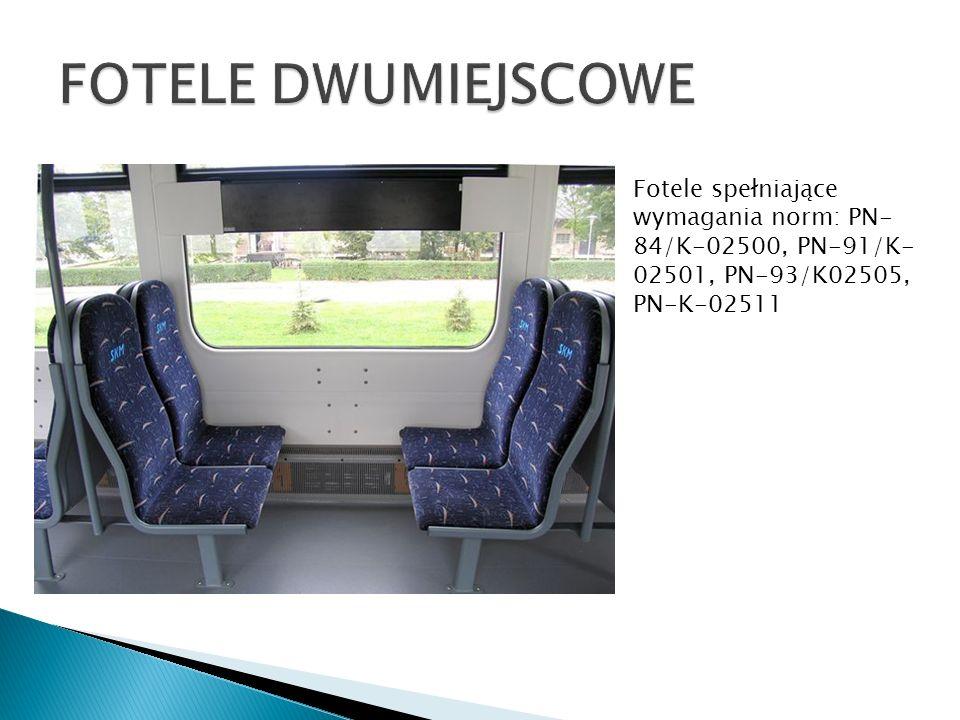 FOTELE DWUMIEJSCOWE Fotele spełniające wymagania norm: PN-84/K-02500, PN-91/K-02501, PN-93/K02505, PN-K-02511.