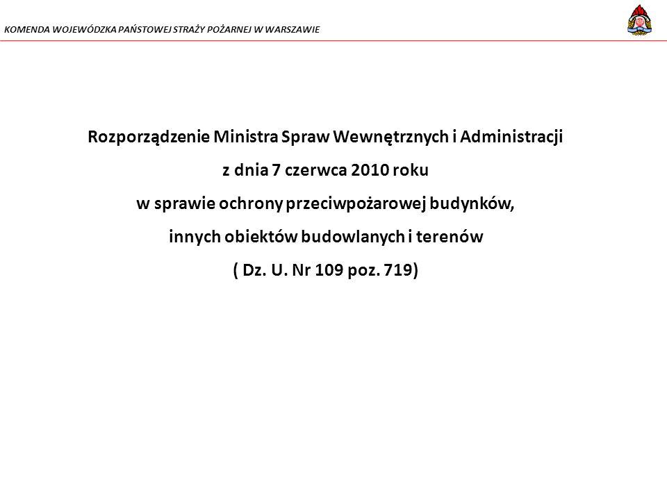 Rozporządzenie Ministra Spraw Wewnętrznych i Administracji