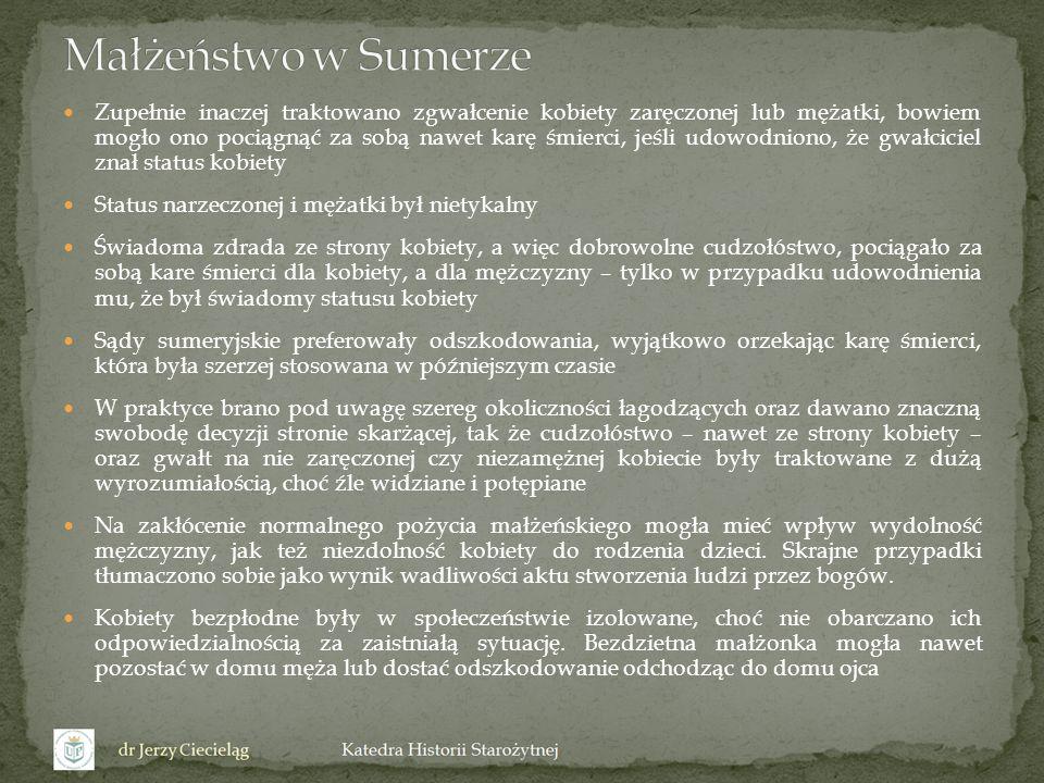 Małżeństwo w Sumerze