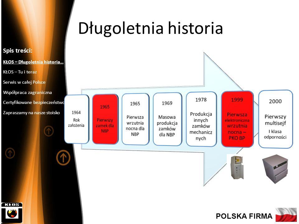 Długoletnia historia POLSKA FIRMA Spis treści: 1964 Rok założenia 1965