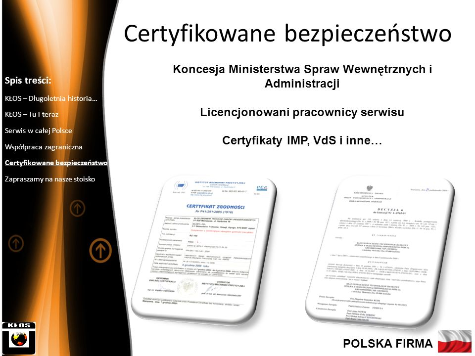 Certyfikowane bezpieczeństwo
