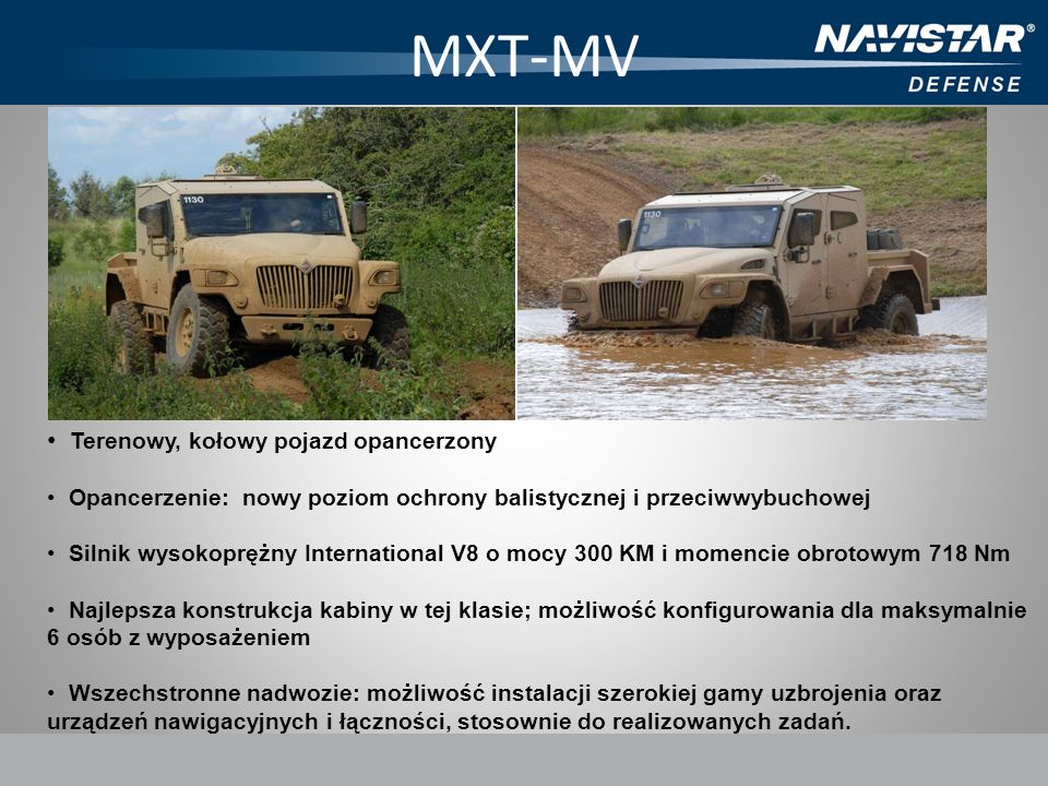 MXT-MV Terenowy, kołowy pojazd opancerzony