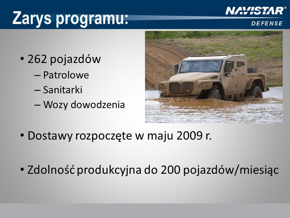 Zarys programu: 262 pojazdów Dostawy rozpoczęte w maju 2009 r.