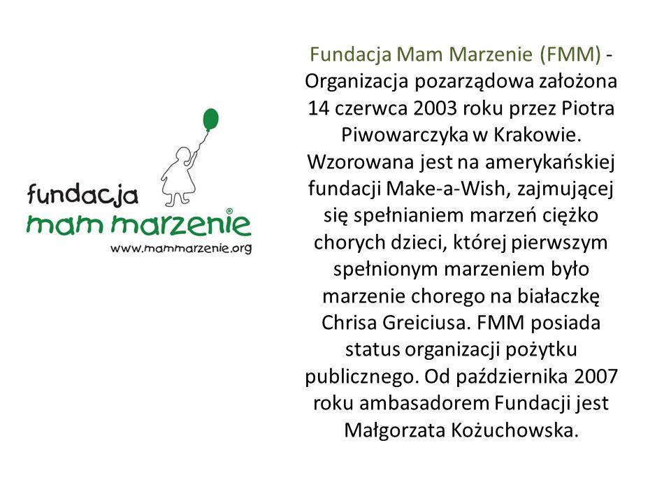 Fundacja Mam Marzenie (FMM) - Organizacja pozarządowa założona 14 czerwca 2003 roku przez Piotra Piwowarczyka w Krakowie.