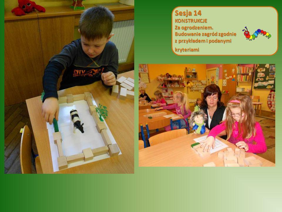 Sesja 14 KONSTRUKCJE Za ogrodzeniem. Budowanie zagród zgodnie z przykładem i podanymi kryteriami