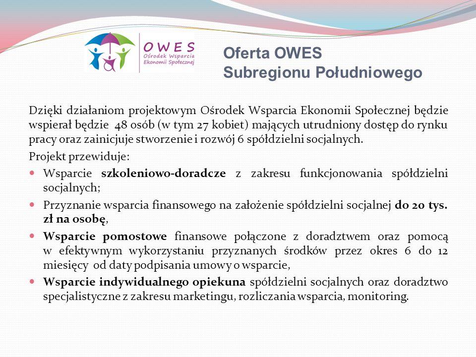 Oferta OWES Subregionu Południowego