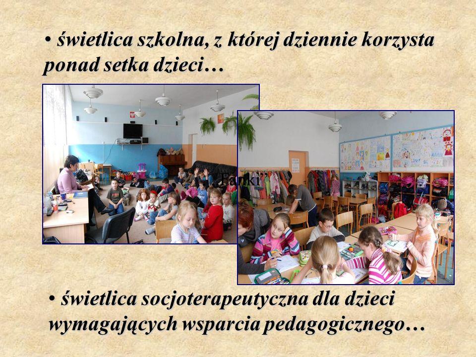świetlica szkolna, z której dziennie korzysta ponad setka dzieci…
