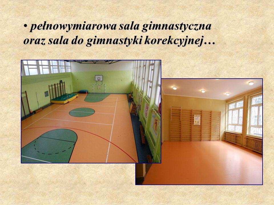 pełnowymiarowa sala gimnastyczna oraz sala do gimnastyki korekcyjnej…