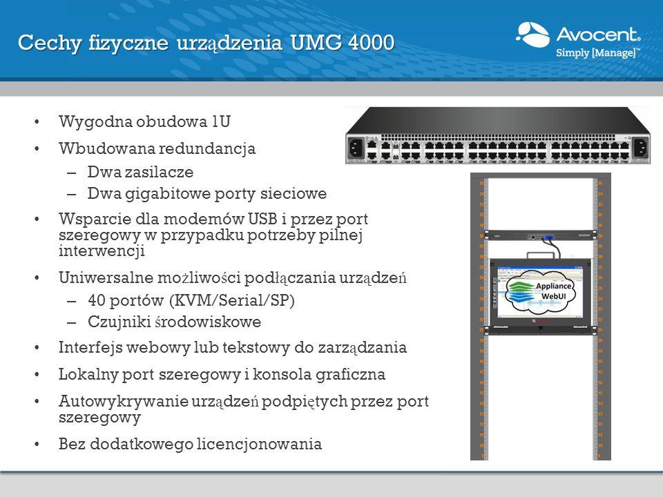 Cechy fizyczne urządzenia UMG 4000