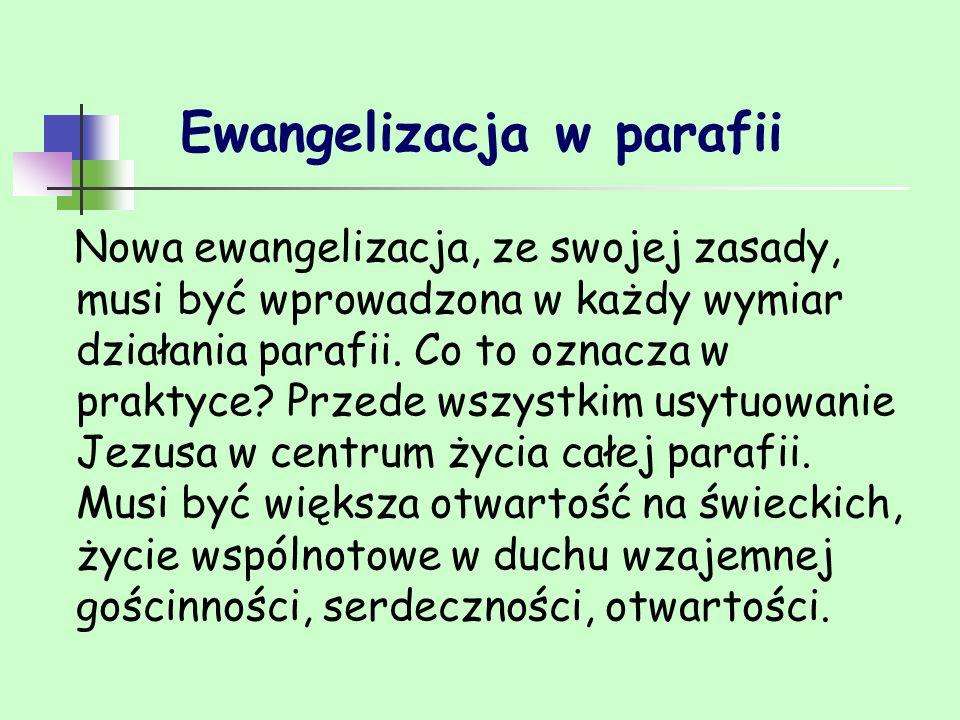 Ewangelizacja w parafii