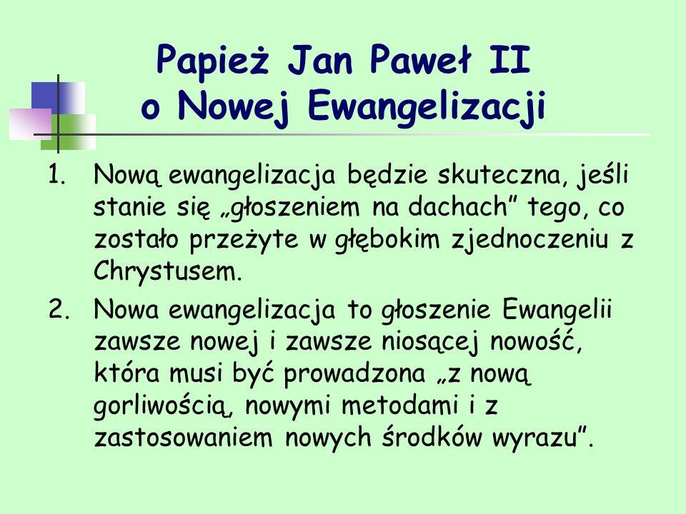 Papież Jan Paweł II o Nowej Ewangelizacji